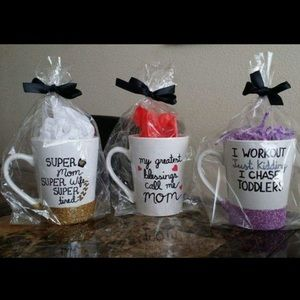 Other - Glittered Coffee mugs